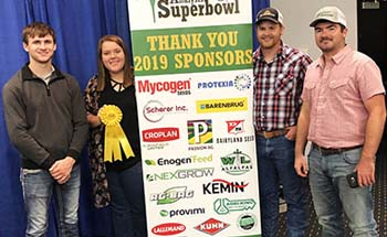 Students at World Forage Analysis Superbowl